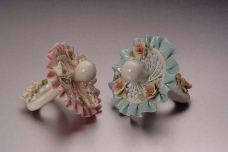 Blue Porcelain Pacifier Min. 6 pcs wedding gift
