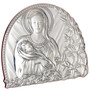 Virgin Mary with Child Sterling Argento Silver Plaque