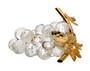 Crystal Grapes Figurine Swarovski 18kt Gold Plated Leaf