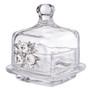 Italian Crystal Trinket Box with Swarovski Crystal Brooch