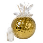 Gold Hammered Finish Decorative Reed Aroma Diffuser Crystal, Butterfly Top