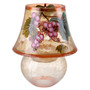 Cracked Glass Tealight Candle Holder Grape Decor