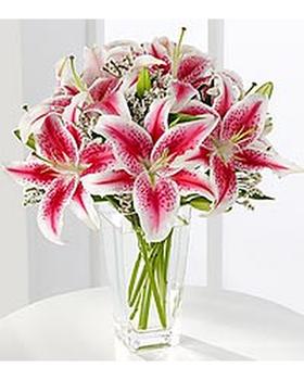 Fragrant pink Stargazer lilies