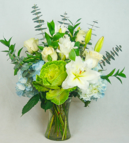 Elegant Ice Blue by Heart & Home Flowers