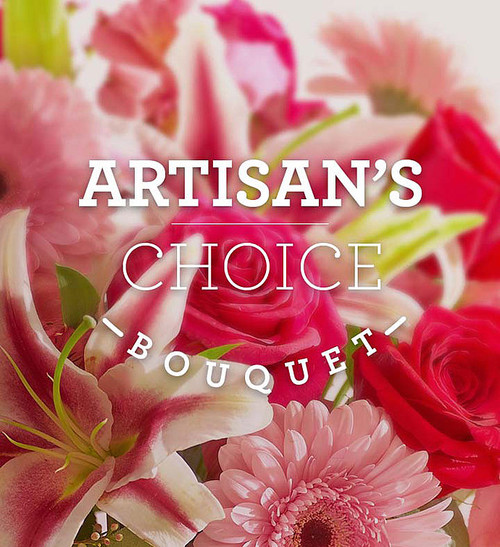 Artisan's Special Bouquet is beautifully hand-arranged in a glass vase by one of our skilled expert florists so that it's completely unique, and a great value at any size.