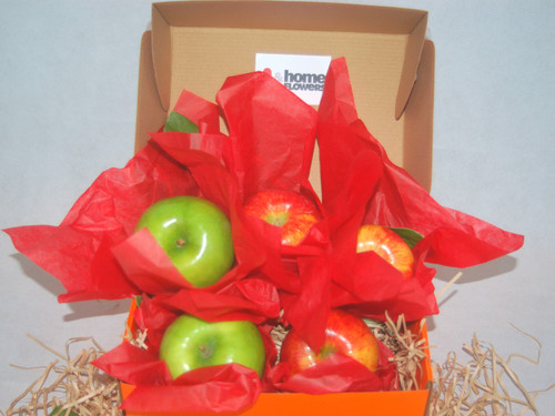 Our fruit boxes are packed to order on the day that they are delivered to ensure maximum freshness. To protect the quality of the fruit, we also pack cushioning straw around each fruit piece which requires packing the gift lower in the box than shown on the web.