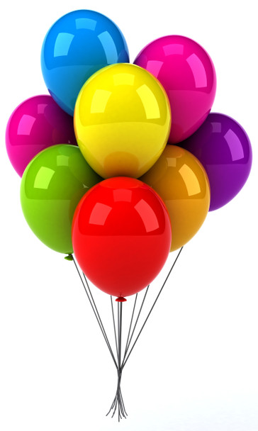 Add a touch of eximent to your gift by complementing it with mylar ballons
