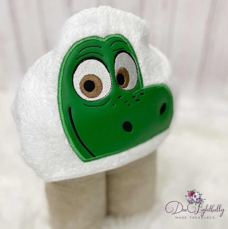 Dinosaur Hooded Towel - Dino Personalized Hooded Towel - Personalized Towel