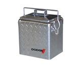 Diamond Plate Retro Metal Cooler - 13L