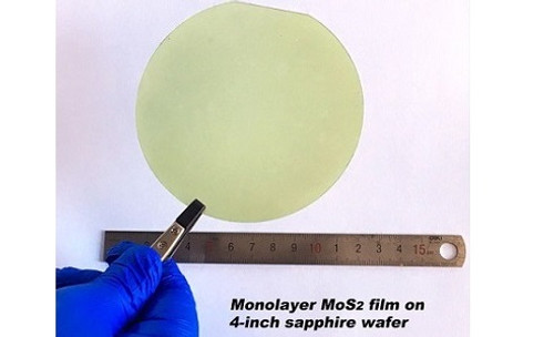 CVD-Grown MoS2 film on 4-inch sapphire wafer