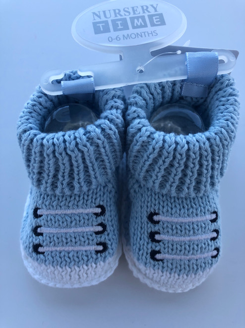 Soft shoes knitted blue