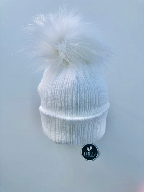 2nd size fur Pom hat  White