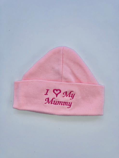 I love mummy hat pink