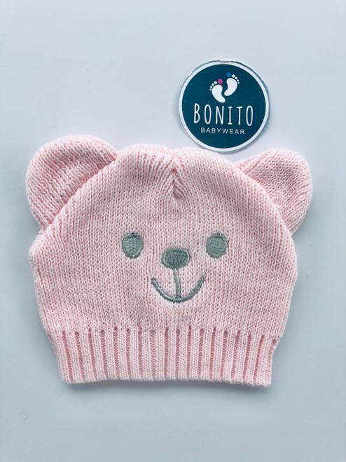 Premature bear hat pink
