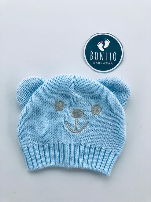 Premature bear hat blue