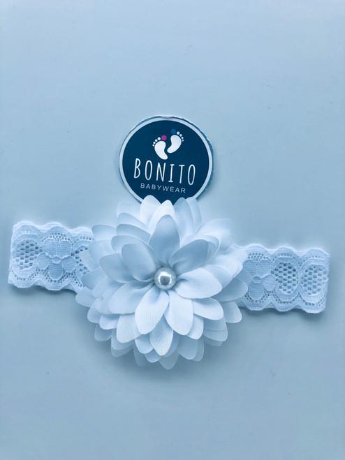 White pearl hairband