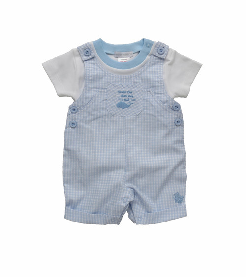 Dungaree set little whale