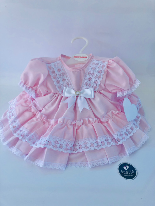 Diamonte dress pink