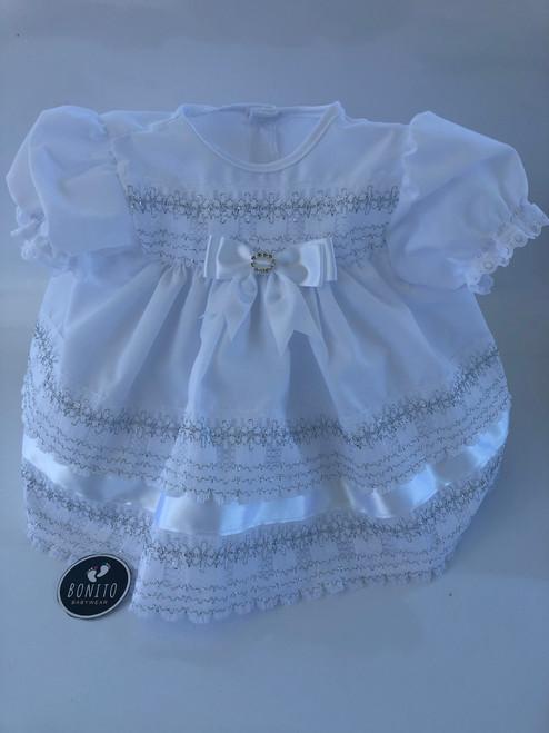 White /silver dress
