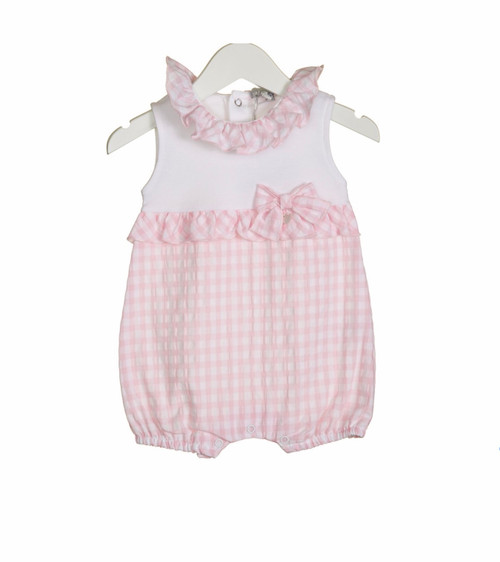 Girls gingham romper