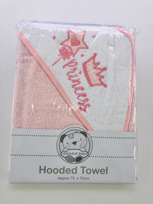 hooded towel pink