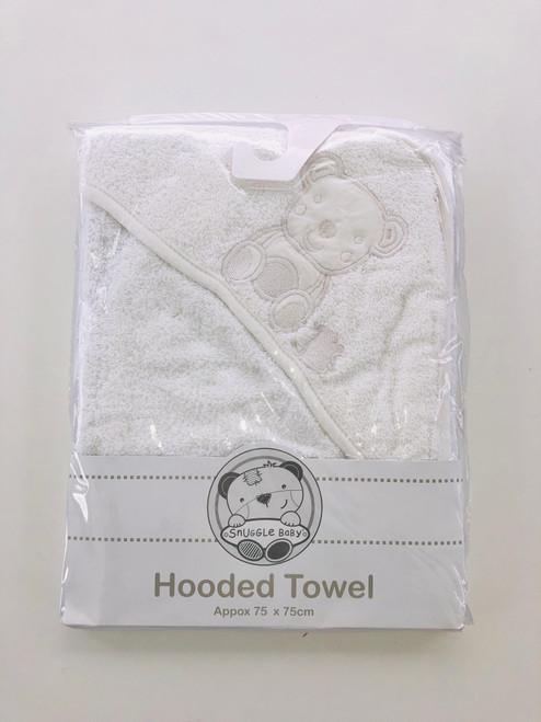 White hooded towel