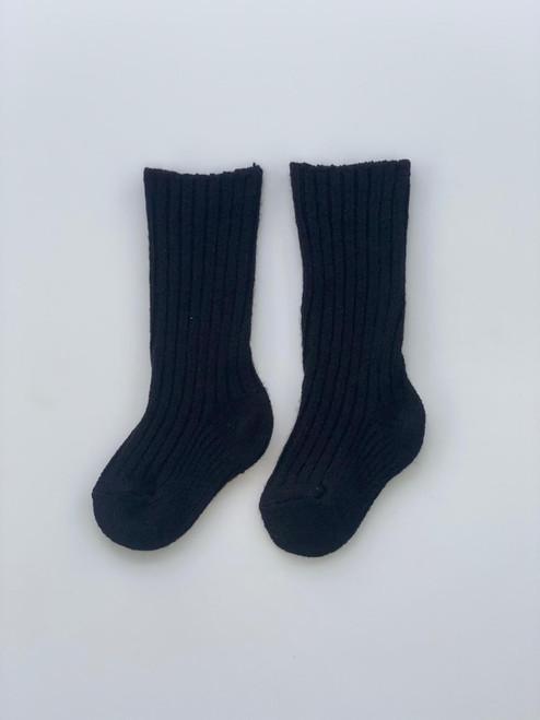 Black kilt socks