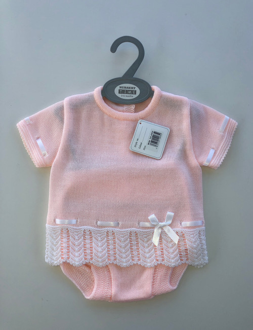 Pink knitted set
