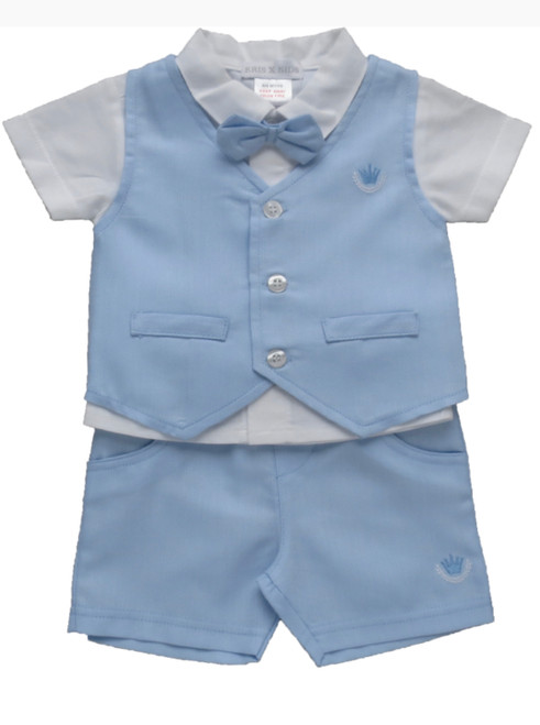 Waistcoat set with bow tie attached