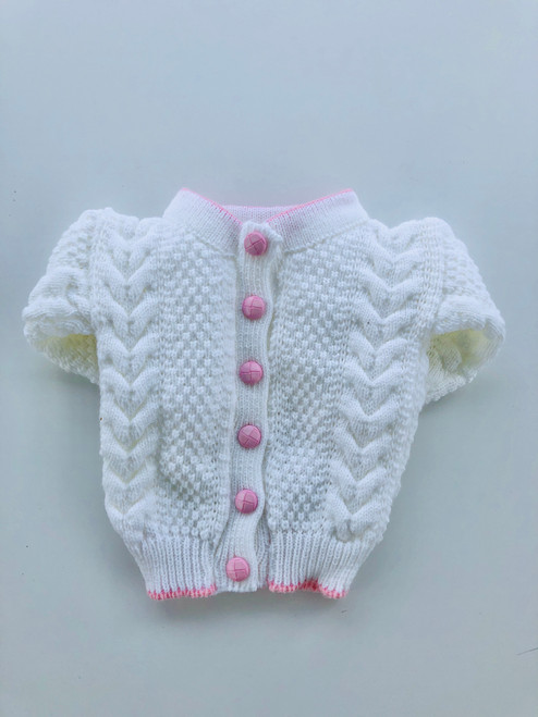 Cable cardigan pink