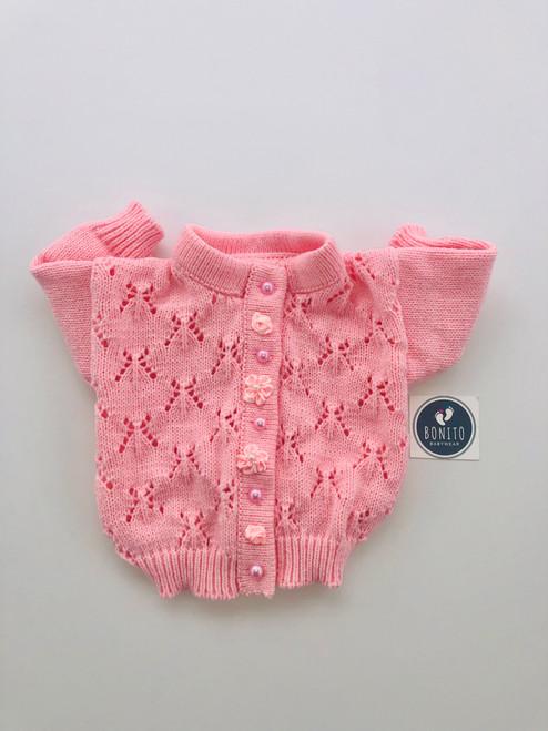 Rosebud cardigan pink