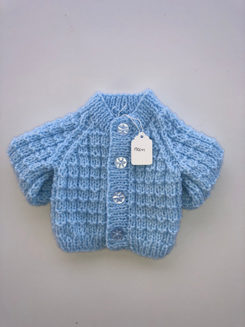 Premature cardigan blue