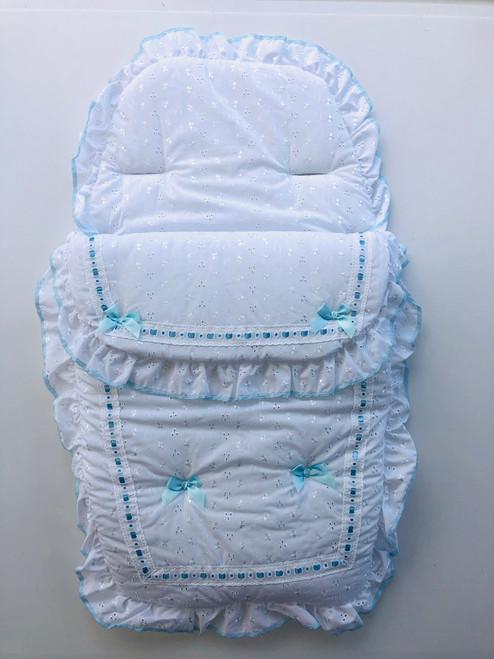 BA lace cozy white/blue