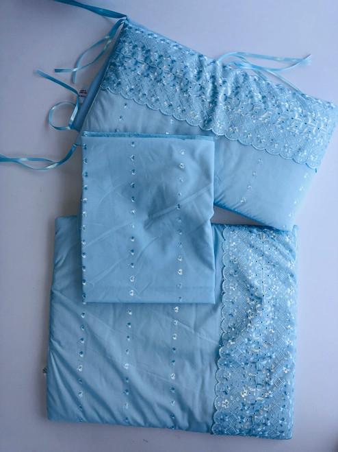 3 piece crib dressing blue