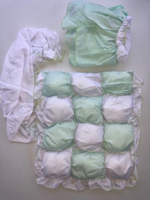 3 piece bubble mosses dressing mint