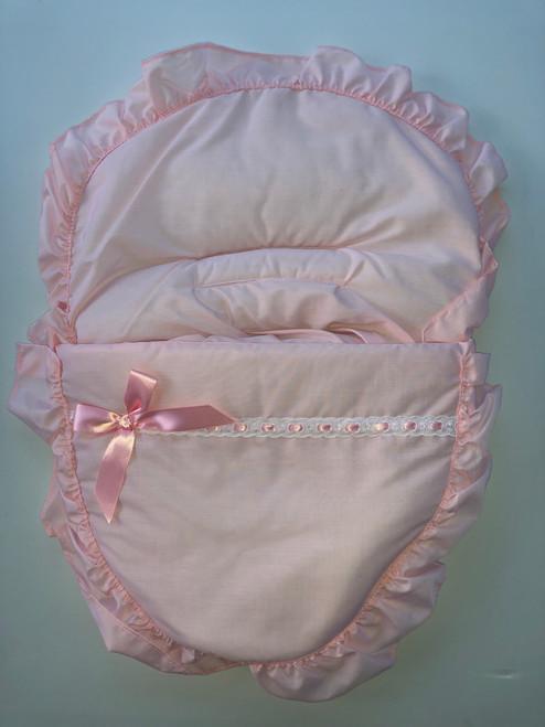 Bow & ribbon car seat cozy toe