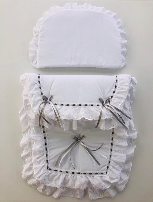 Bow/ribbon pram set