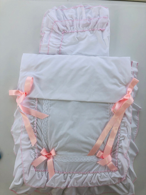 Silver cross (balmoral) pram set pink