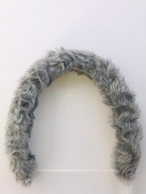 Pram/car seat fur trim grey