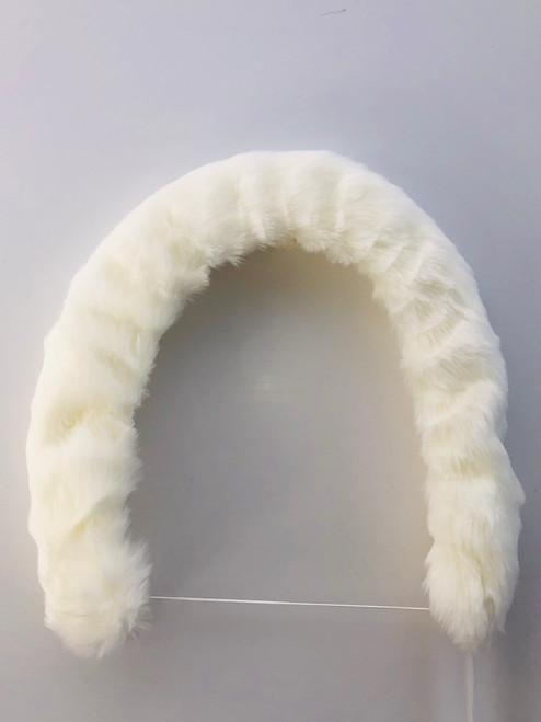 Pram/car seat fur trim white