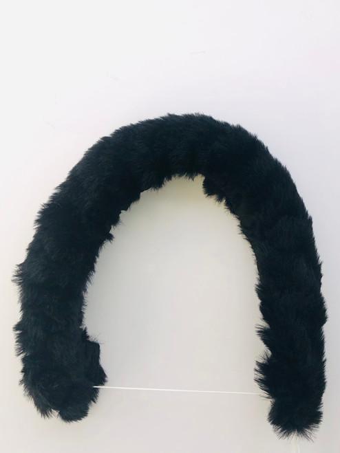 Pram/car seat fur trim black