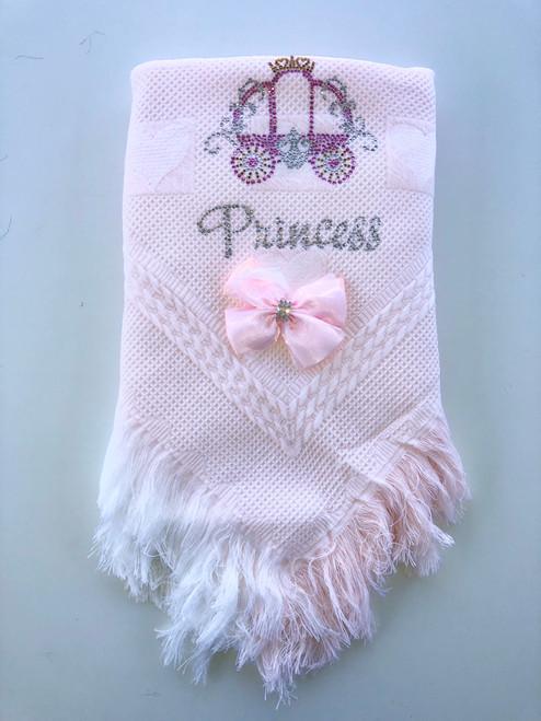 Princess carriage shawl pink