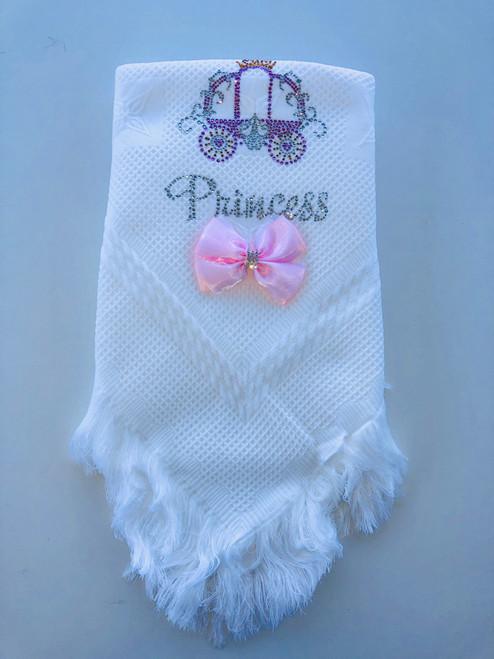 Princess/carriage shawl White