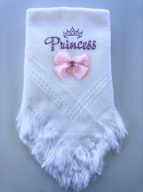 Princess/crown shawl white