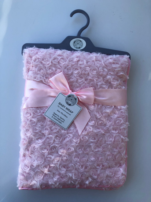 Super soft swirl wrap pink