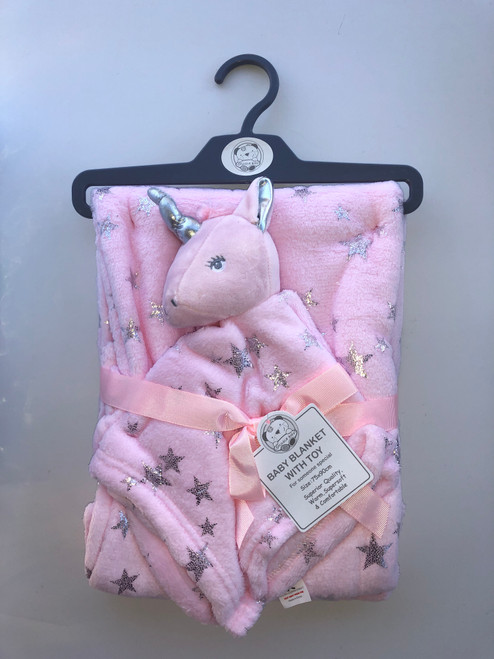 Blanket with unicorn comforter