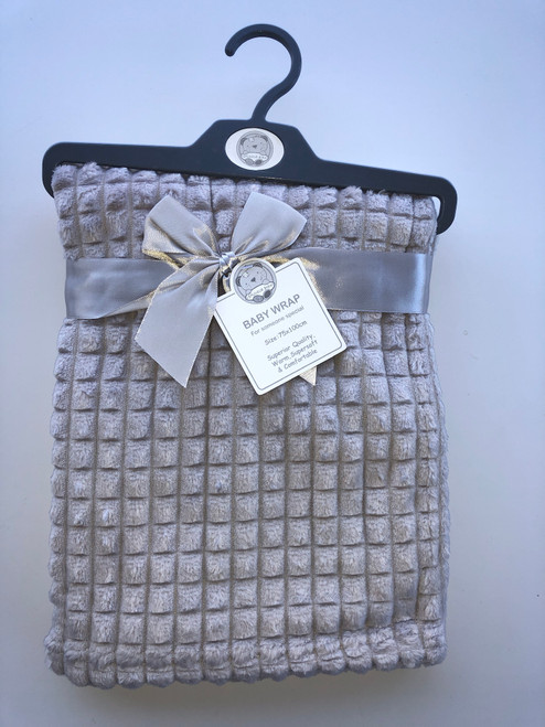 Super soft fleece wrap grey