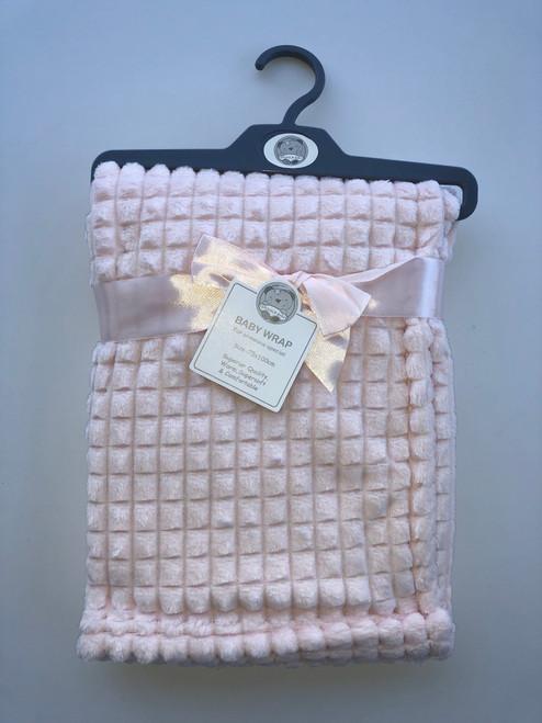 Super soft fleece wrap pink