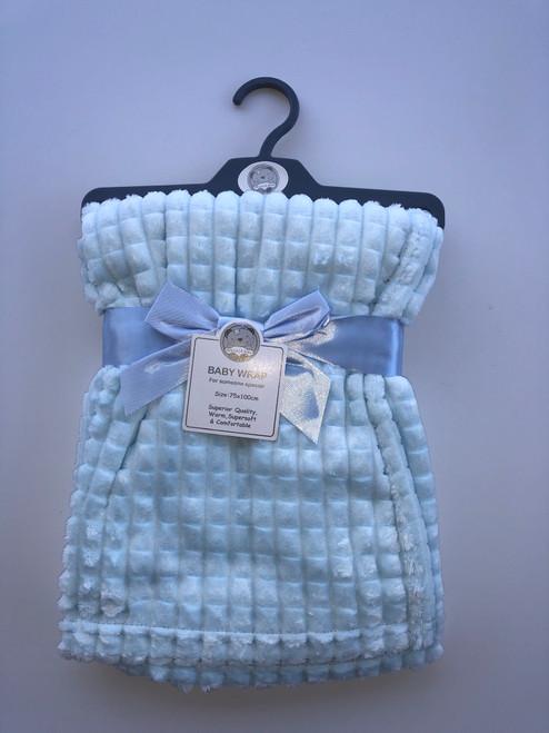 Super soft fleece wrap blue