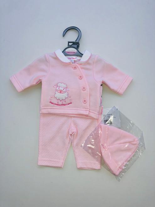 Premature little lamb suit pink